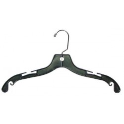 "Big Kids 14"" Black Plastic Top Hanger"
