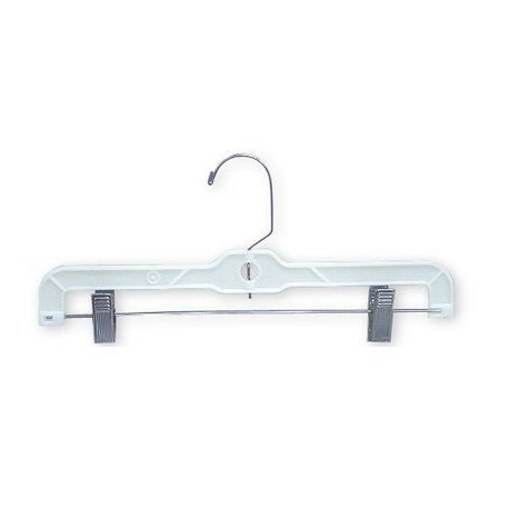 "Big Kids 12"" White Plastic Pant/Skirt Hanger"
