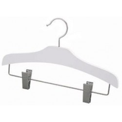 "Kids 12"" White Wood Decorative Combination Hanger"