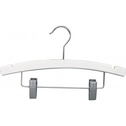 "Kids 12"" White Wood Combination Hanger"