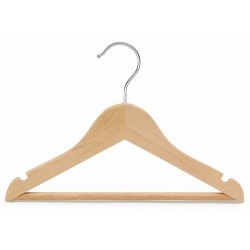 "Kids 11"" Wood Top Hanger w/Bar"