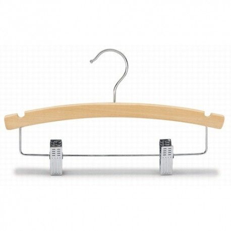 "Kids 12"" Arched Wood Combination Hanger"