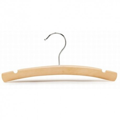 "Baby 10"" Natural Wood Top Hanger"