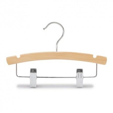 "Baby 10"" Natural Wood Combination Hanger"