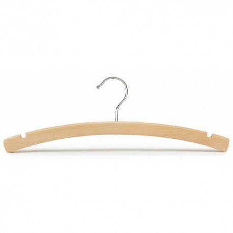 "Big Kids 14"" Natural Wood Top Hanger"