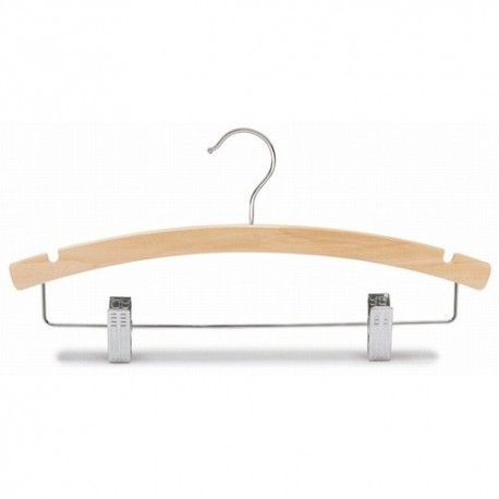"Big Kids 14"" Natural Wood Combination Hanger"