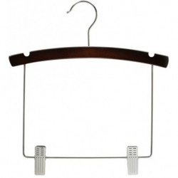 "Kids 12"" Walnut & Chrome Display Hanger"