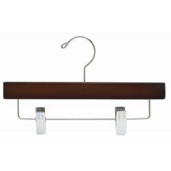 "Kids 10"" Walnut Wood Pant/Skirt Hanger"