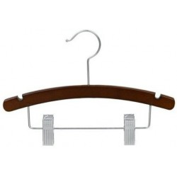 "Big Kids 14"" Arched Walnut Combination Hanger"