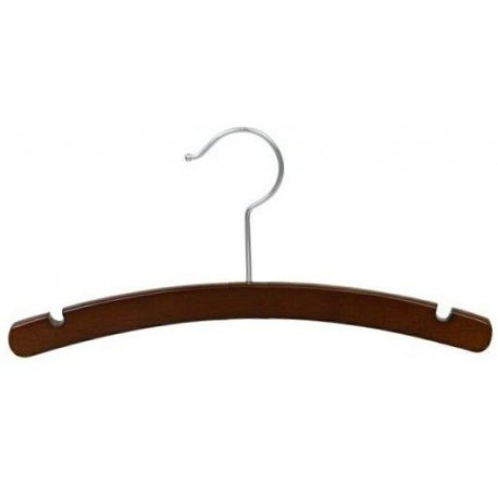 """Big Kids 14"""" Arched Walnut Top Hanger"""