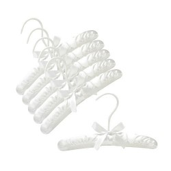 "Baby 10"" White Satin Padded Hanger"