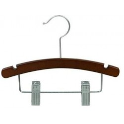 "Baby 10"" Walnut Wood Combination Hanger"