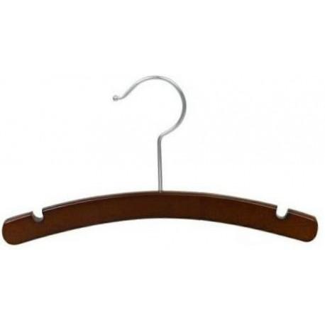 """Baby 10"""" Walnut Wood Top Hanger"""