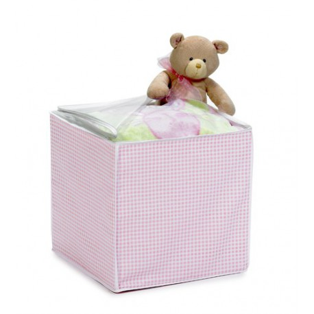 Pink Lattice Storage Cube