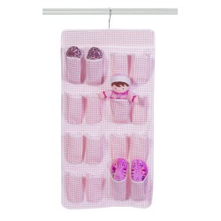 Pink Lattice 16 Pocket Hanging Storage