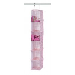 Pink Lattice Six Shelf Shoe Storage