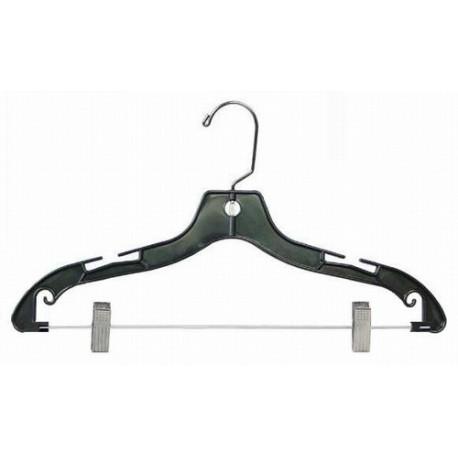 """Big Kids 14"""" Black Plastic Coordinate Hanger"""