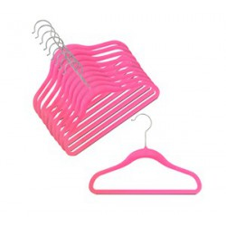 Kids Slim-Line Hot Pink Hanger