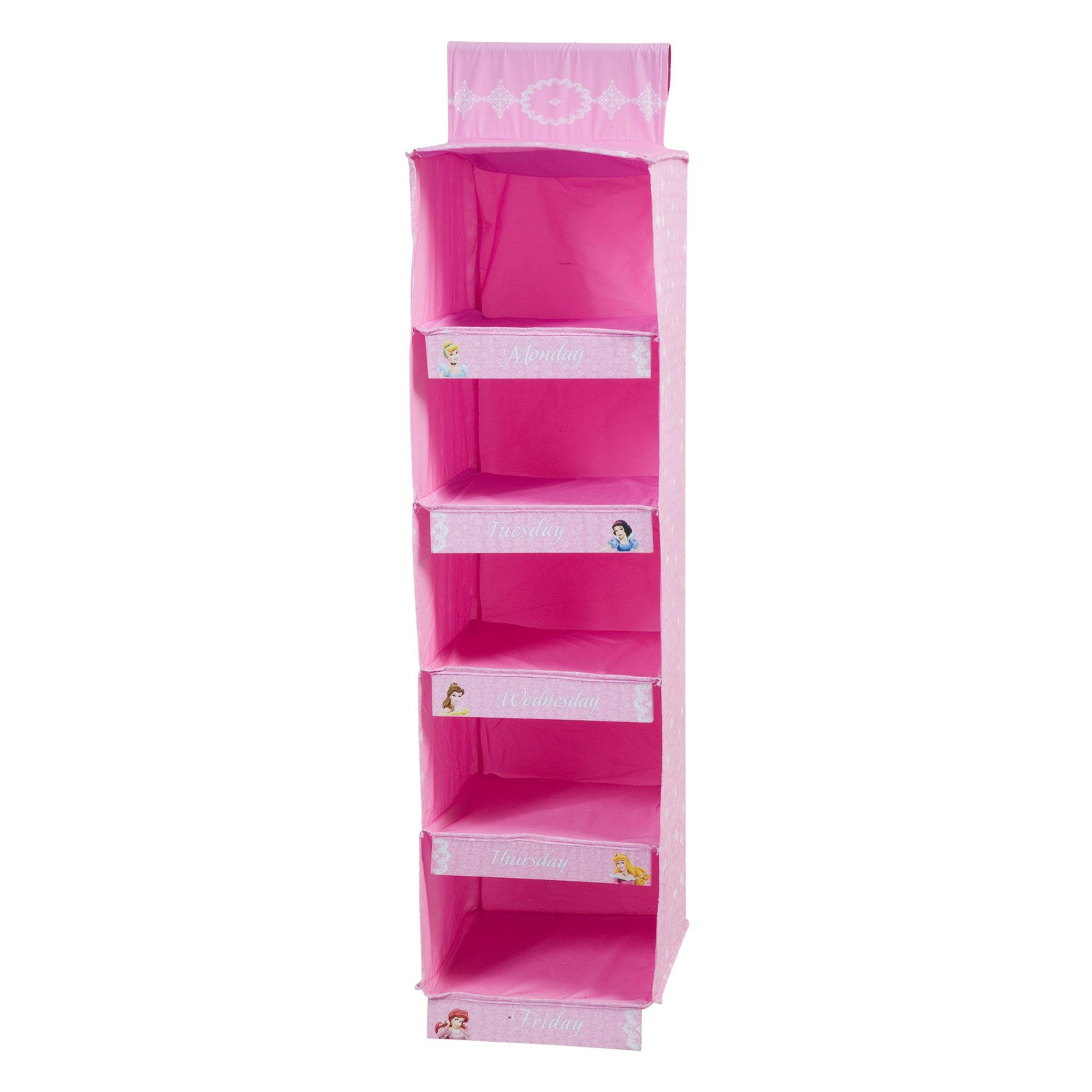 sc 1 st  Only Kids Hangers & Disney Princess Days of the Week Hanging Storage Compartment